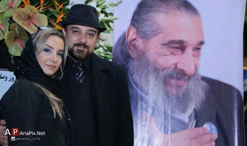 سالگرد انوشیروان ارجمند / برزو ارجمند و همسرش