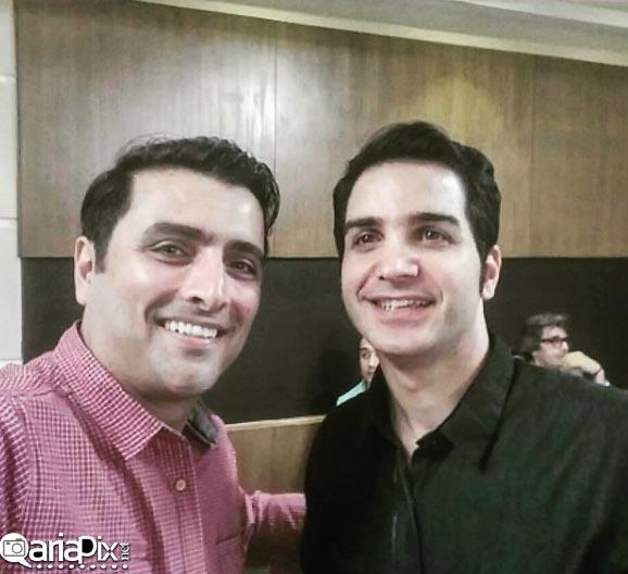 سلفی امین زندگانی با محسن یگانه در کنسرتش