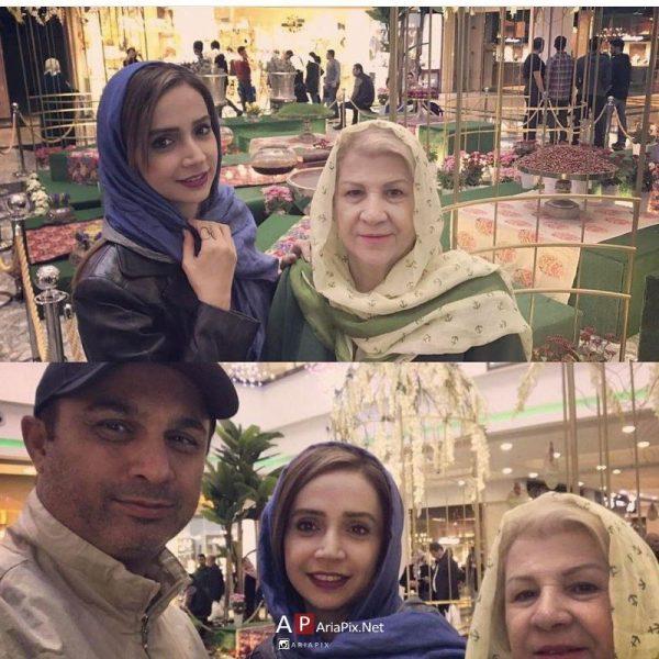 شبنم قلی خانی و مادرش و برادرش