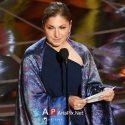 توضیحات انوشه انصاری در مورد طرح و مدل شال خود در مراسم اسکار