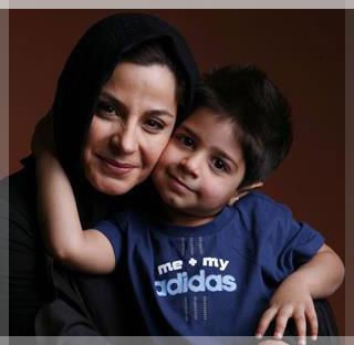 سیما تیرانداز و پسرش بازیگر زن ایرانی sima-tirandaz