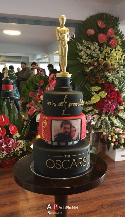 کیک جالب در مراسم تقدیر از اصغر فرهادی