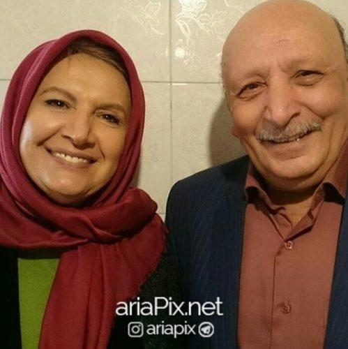 شهین تسلیمی و همسرش