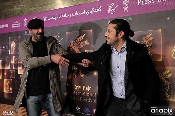 امیر جعفری اشکان خطیبی و مهرداد صدیقیان در جشنواره فجر 91