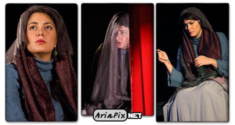 عکسهای طناز طباطبایی در نمایش تئاتر کمی بالاتر