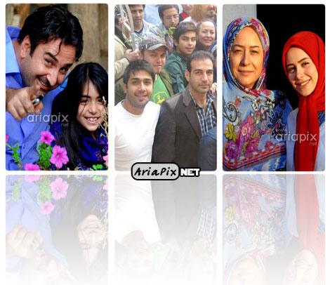 عکسهای یادگاری از بازیگران و عوامل سریال تا ثریا