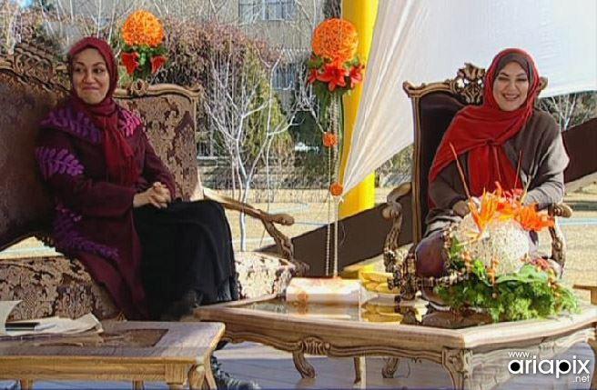 عکسهای خواهران لاله و ستاره اسکندری در برنامه زنده رود