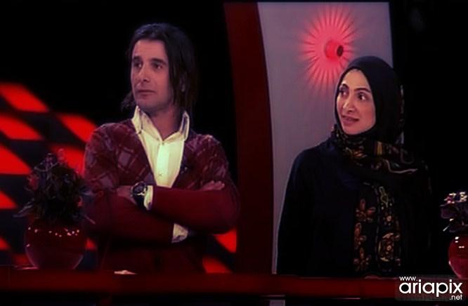 امین حیایی و همسرش نیلوفر خوش خلق سال 92