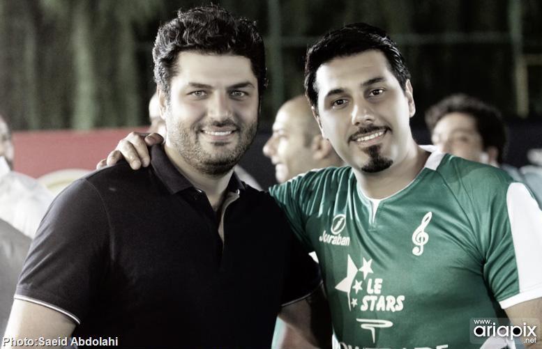 عکسهای خوانندگان و بازیگران در جام بازیهای فوتبال رمضان 92