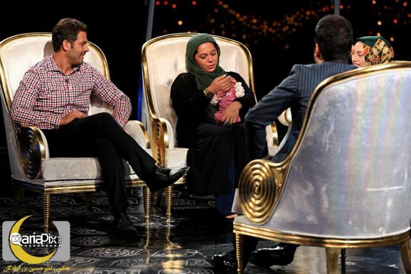 پژمان بازغی و همسرش در برنامه ماه عسل 92