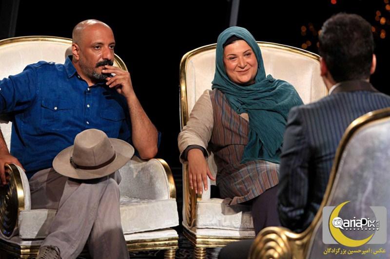 امیر جعفری و همسرش ریما رامین فر در اختتامیه و آخرین قسمت ماه عسل 92