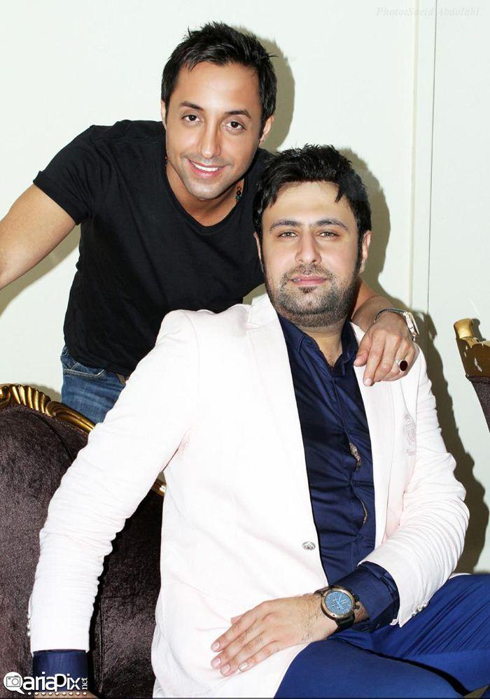 عکس محمد علیزاده و امیرحسین رستمی در بندر عباس کنسرت / مهر 92