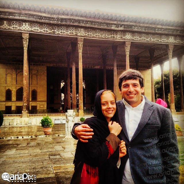 آخرین عکس  از حمید گودرزی و همسرش ماندانا دانشور 92