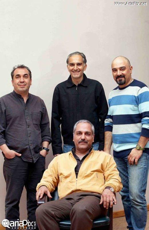 مهران مدیری,برزو ارجمند,سیامک انصاری و بیژن بنفشه خواه / عکس