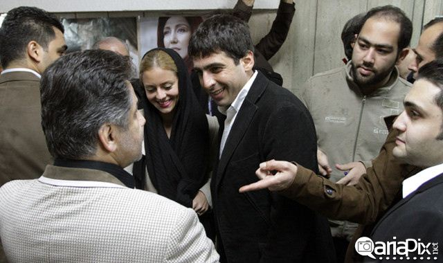 حمید گودرزی و همسرش در اکران فیلم نازنین
