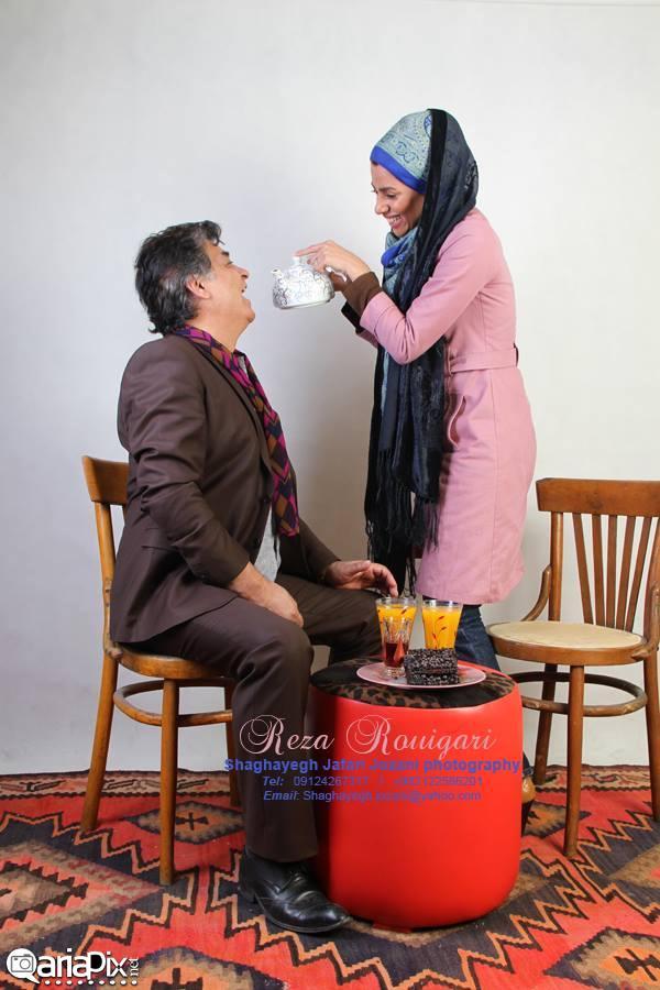 رضا رویگری و همسر جدیدش