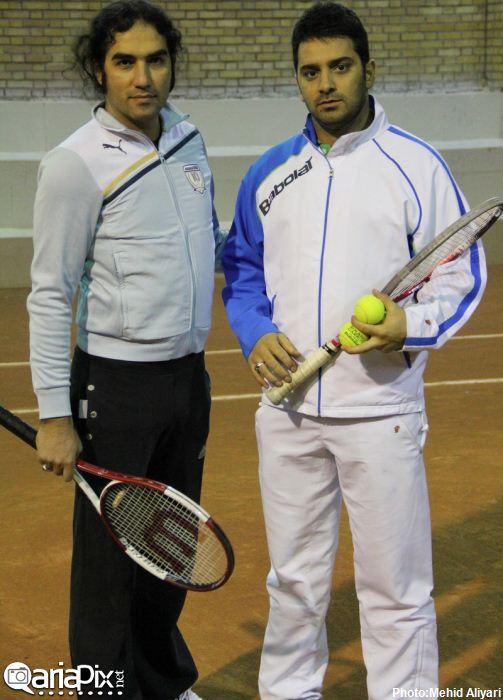 تمرین تنیس هنرمندان