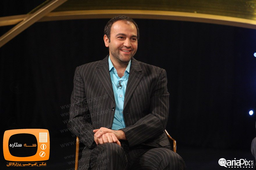 عکس جدید از آرش مجیدی بازیگر مرد ایرانی در برنامه سه ستاره