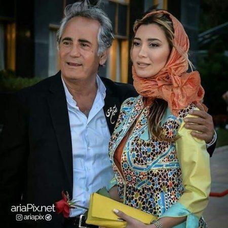 نیکی مظفری و همسرش
