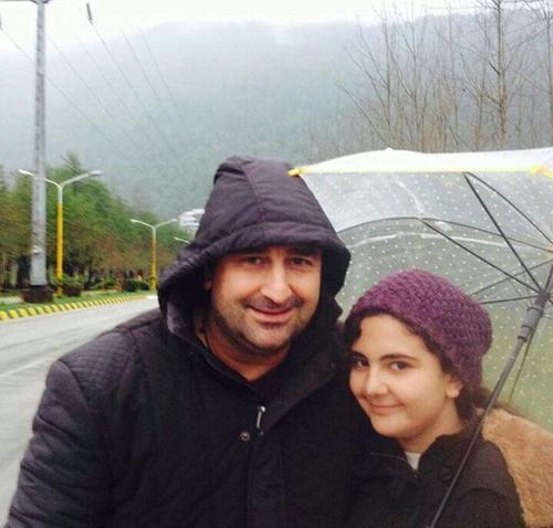مهران احمدی و دخترش