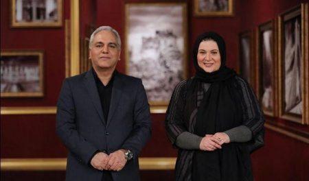 ریما رامین فر در کنار مهران مدیری در برنامه دورهمی
