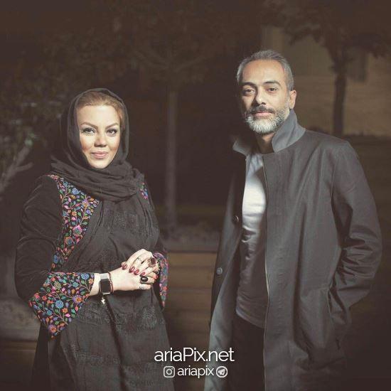 علی قربانزاده و همسرش