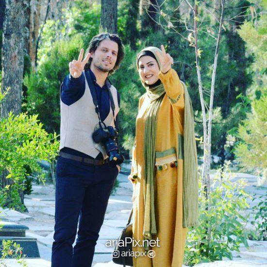 هلیا امامی و همسرش