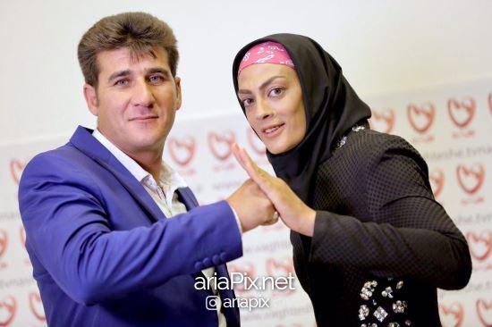 شهربانو منصوریان و همسرش