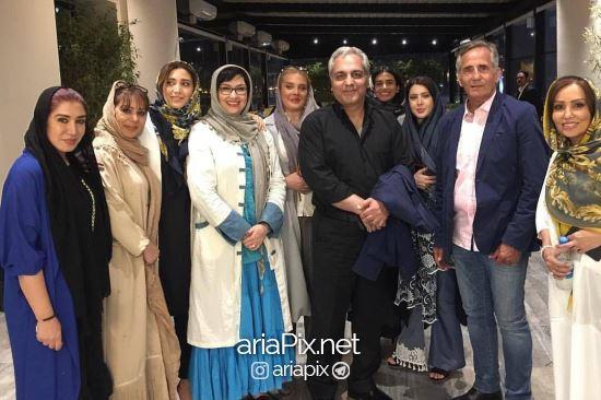 هنرمندان در افتتاحیه امفی کافه مجید مظفری
