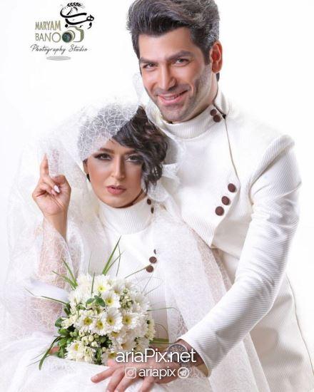 فریبا طالبی و همسرش