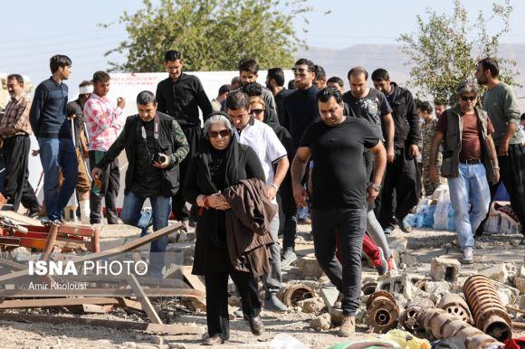 سینماگران در روستاهای زلزله زده کرمانشاه