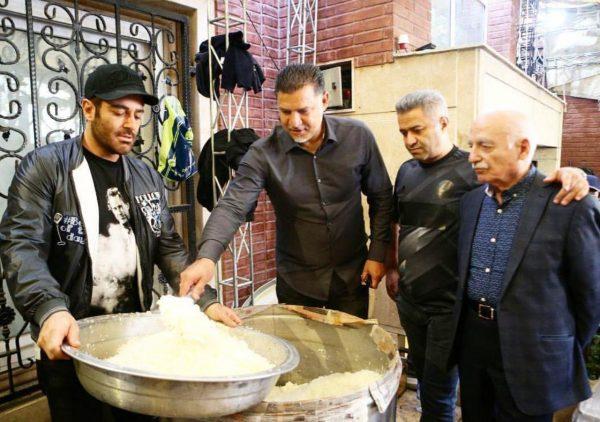 نذری دادن محمدرضا گلزار و علی دایی