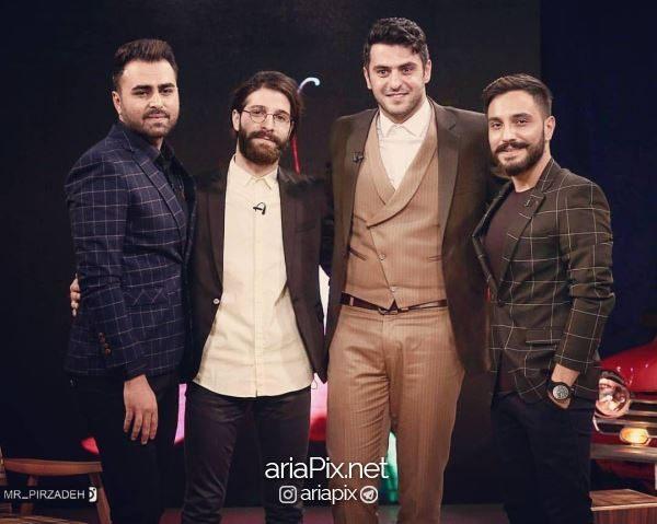حمید هیراد در کنار علی ضیا و پازل باند ( آرین بهاری و علی رهبری )