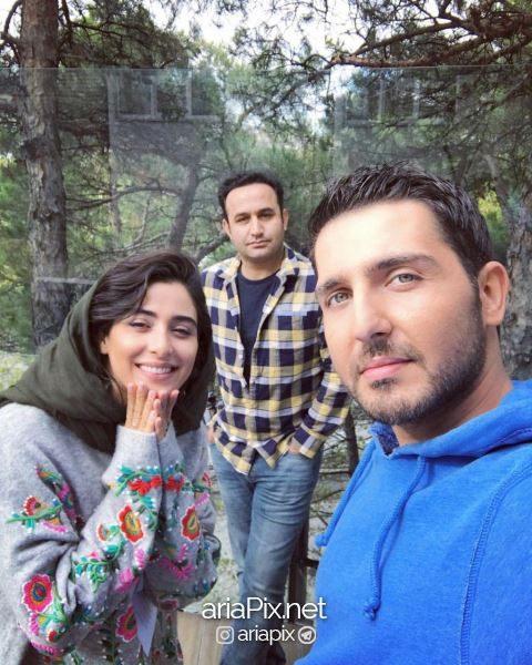 محمدرضا غفاری و همسرش