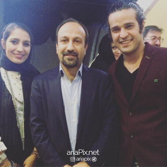 مجتبی پیرزاده در کنار اصغر فرهادی