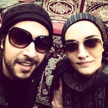 میترا حجار و همسرش
