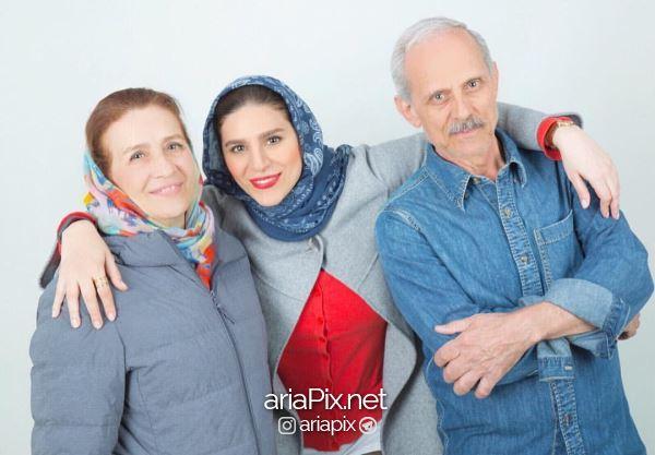 سحر دولتشاهی و پدر و مادرش