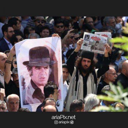 جمعیت در تشییع جنازه ناصر ملک مطیعی