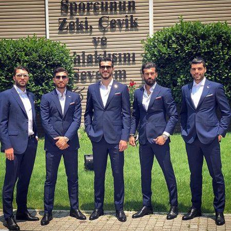 عکس سعید عزت اللهی با بازیکنان تیم ملی ایران در روسیه 2018