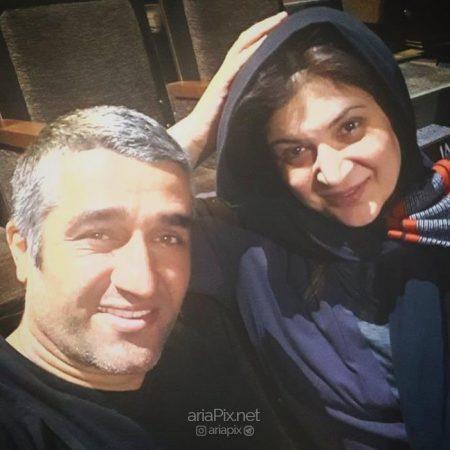 پژمان جمشیدی و همسرش