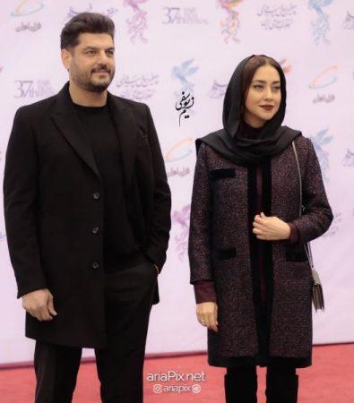 سام درخشانی و بهاره کیان افشار در افتتاجیه جشنواره فجر