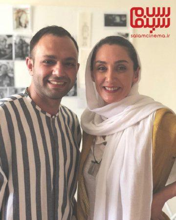 هدیه تهرانی و صابر ابر در پشت صحنه فیلم مسخره باز