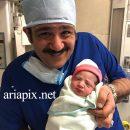دختر مهران غفوریان به دنیا آمد +اسم دخترش هانا