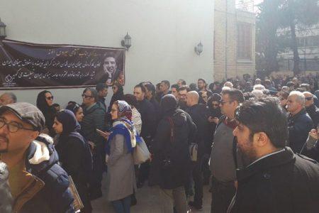 مراسم تشییع جنازه خشایار الوند
