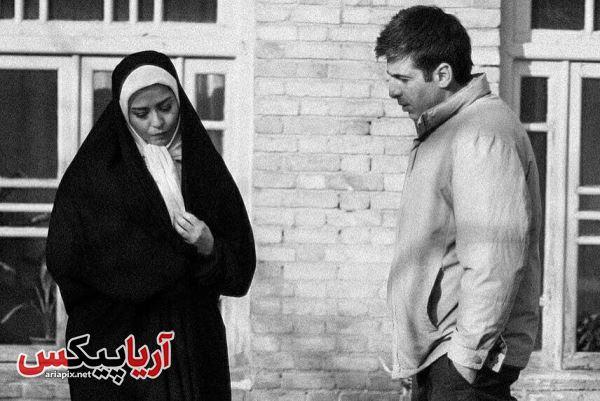 مهراوه شریفی نیا و حمید گودرزی در نمایی از سریال بر سر دوراهی
