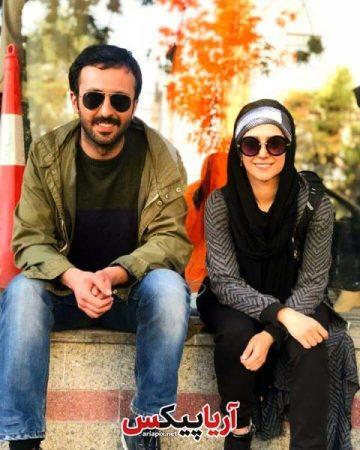 حسام محمودی و الناز حبیبی بازیگران سریال دلدار در پشت صحنه سریال