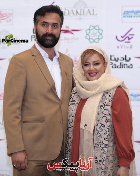 بهاره رهنما در کنار همسرش در جشن حافظ 98