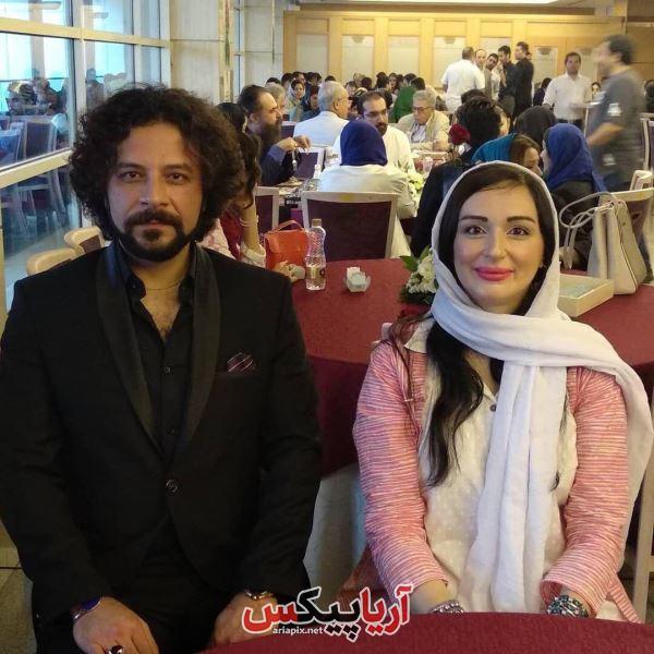 حسام منظور و مژگان ترانه در جشن حافظ