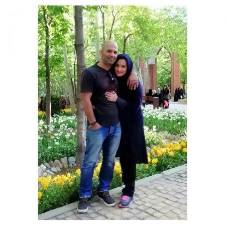 زهرا خاتمی راد و همسرش