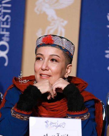 ظاهر کچل و سر تراشیده پانته آ بهرام در جشنواره فجر